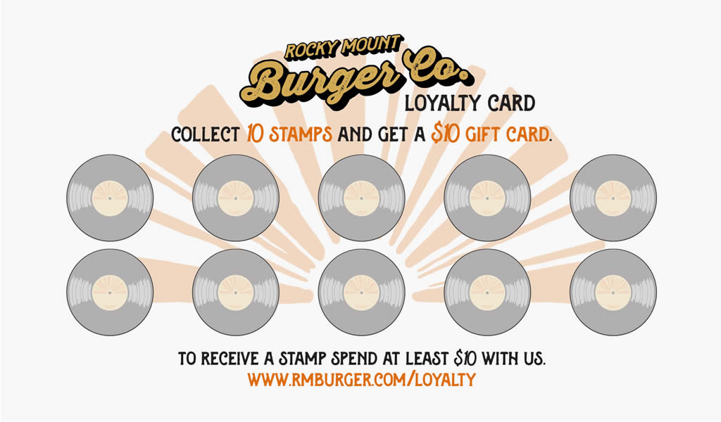 Rocky Mount Burger Company Loyalty Card